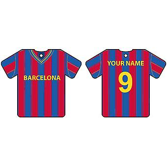 Gepersonaliseerde Barcelona Football Shirt auto luchtverfrisser