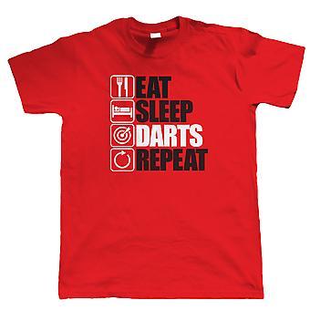 Come sono dardos Repeat, Mens engraçado jogos de T-Shirt