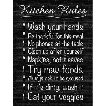 Kjøkken regler Poster trykk av Lauren Gibbons