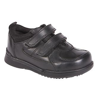 Hush Puppies Boys Liam School Shoes Black F Fitting