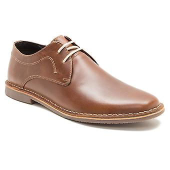 Byråkrati Yuma Mens Tan Brown Gibson skinnsko