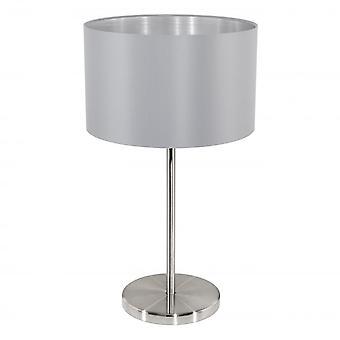 Eglo MASERLO Steel Grey Table Lamp