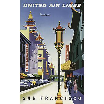 United Air Lines San Francisco 2 Poster Print Giclee