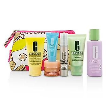 Clinique Travel Set: Facial Soap 30ml+Lotion 2 60ml+DDML 30ml+Smart Serum 10ml+Turnaround Serum 7ml+All About Eyes 7ml+Bag - 6pcs+1bag