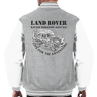 Haynes Owners Workshop Manual Land Rover Adventure Black Men's Varsity Jacket