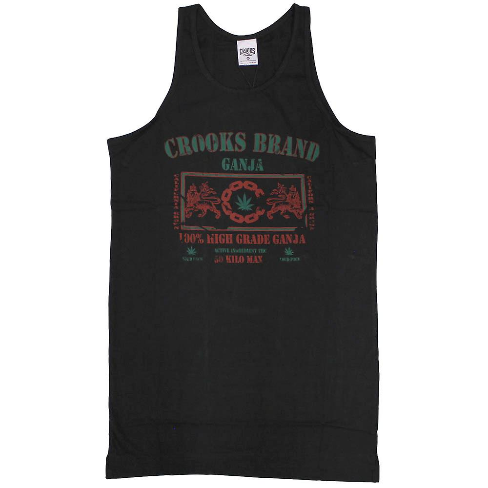 Crooks & Castles Ganja Tank Top Black