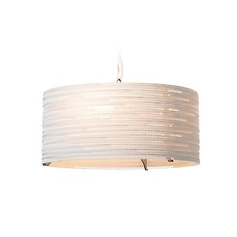 Graypants Drum White Pendant Light 18 inch - E27