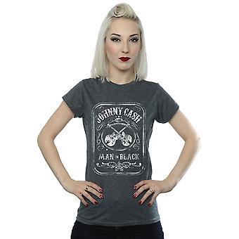 Johnny Cash kvinder mand i sort etiket T-Shirt