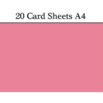 20 Pink A4 Card Sheets for Crafts | Coloured Card for Crafts