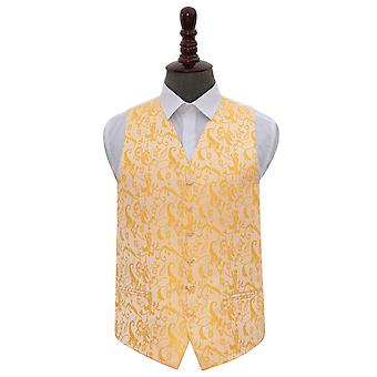 Gold Floral Wedding Waistcoat