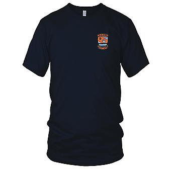 USAF Airforce - 4604th Support Squadron Texas Tower 4 Embroidered Patch - Ladies T Shirt