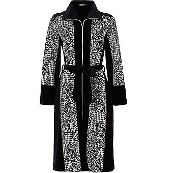 Pastunette 7072-327-8-999 Women's Luxe Black Geometric Robe Dressing Gown