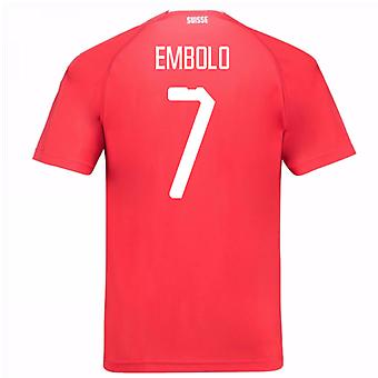 2018-19 Switzerland Home Shirt (Embolo 7) - Kids
