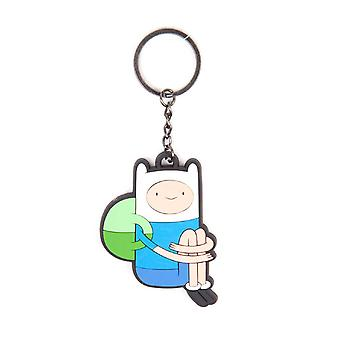 Adventure Time Keychain Keyring Sitting Finn new Official Rubber