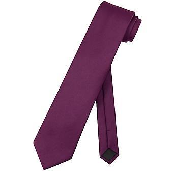 Vesuvio Napoli Krawatte solide EXTRA lange Herren XL Krawatte
