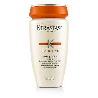 Kerastase Nutritive Bain Satin 2 Exceptional Nutrition Shampoo (For Dry, Sensitised Hair) 250ml/8.5oz