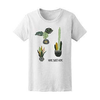 Home Sweet Home Succulents Tee Women's -Image by Shutterstock