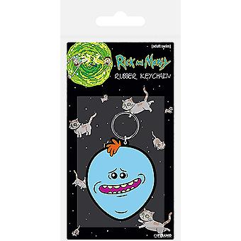 Rick and Morty Keyring Keychain Mr Meeseeks Face new Official Rubber