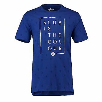 2018-2019 Chelsea Nike Squad Tee (Blue)