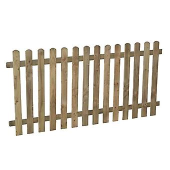 Forest Garden 3ft Heavy Duty Wooden Picket Fence Panel