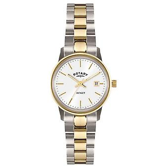 Rotary Womens Avenger   Two-Tone Stainless Steel Bracelet   LB02736/02 Watch