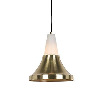QAZQA Modern Pendant Lamp Brass with Marble - Albasta A