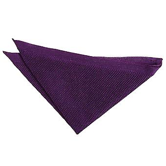 Cadbury Purple Knitted Handkerchief / Pocket Square