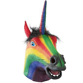 Maschera dell'unicorno unicorno macchiato maschera a pieno facciale Halloween carnevale