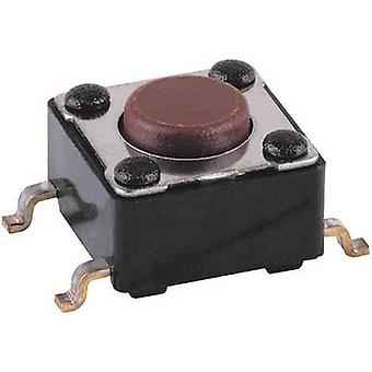 Mentor 1254.1004 Pushbutton 12 V DC/AC 0.05 A 1 x Off/(On) momentary 1 pc(s)