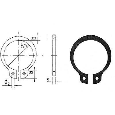 Shaft retaining ring Reely Suitable for shaft diameter: 5 mm 20 pc(s)