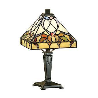 Intérieurs 1900 Alcea Square ombrer Mini lampe de bureau Tiffany