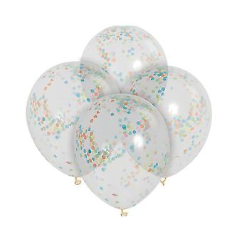 SALE - 6 Confetti Filled Helium Quality Balloons for Parties