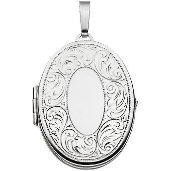 Medalion wisiorek 925 sterling silver rod galwanicznie częściowo matowe srebro wisiorek