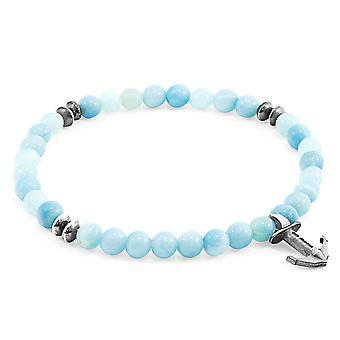 Anchor & Crew Turquoise Amazonite Starboard Silver and Stone Bracelet