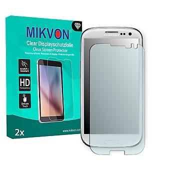 Samsung Galaxy S3 Screen Protector - Mikvon Clear (Retail Package with accessories) (intentionally smaller than the display due to its curved surface)