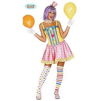 Kleurrijke clown kostuum voor dames carnaval Carnaval Feest verjaardag grappige circus