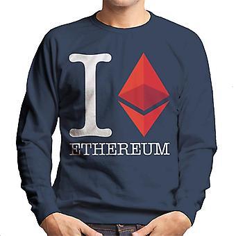 I Heart Ethereum Men's Sweatshirt