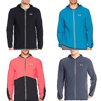 Under Armour Mens UA lancering uitgerust Running sport Full Zip Jacket Hooded Top