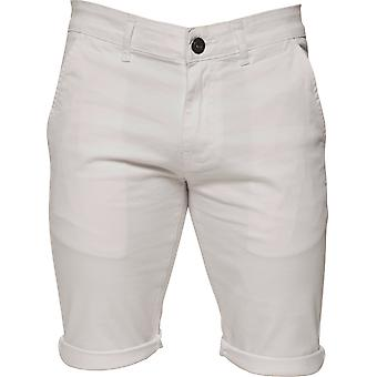 Mens White Casual Chino Shorts | Enzo Designer Menswear