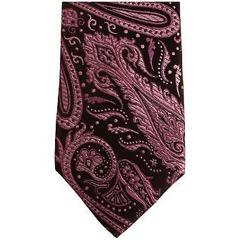 Knightsbridge Neckwear Paisley Silk Skinny Tie - Purple