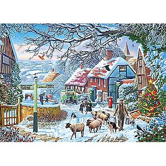 Gibsons A Winter Stroll Jigsaw Puzzle (1000 Pieces)