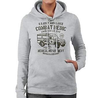 US Army Ambulance Women's Hooded Sweatshirt
