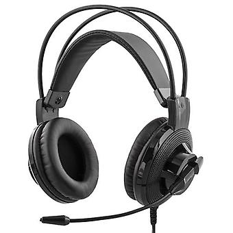 DELTACO Gaming koptelefoon volumeregeling op kabel 2 x 3, 5 mm 2, 1 m kabel
