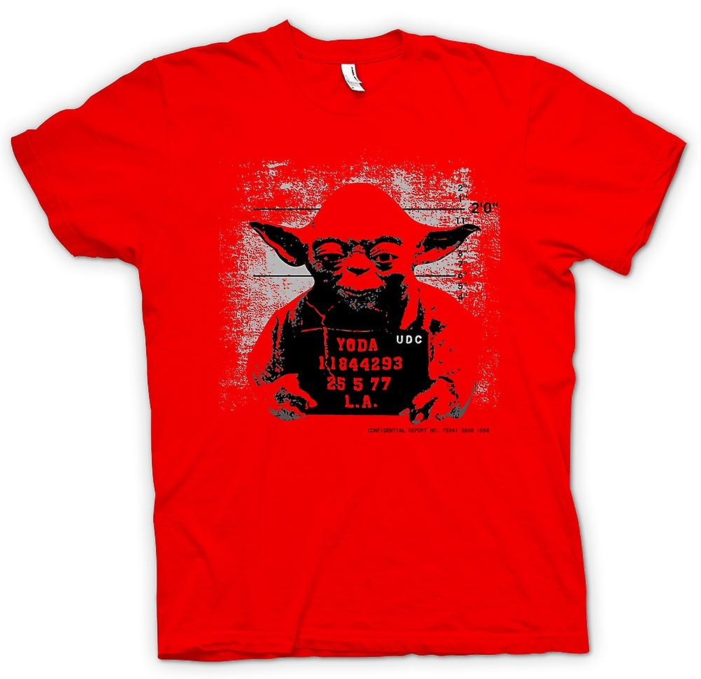 Mens t-shirt-Yoda - Star Wars - foto segnaletica divertente