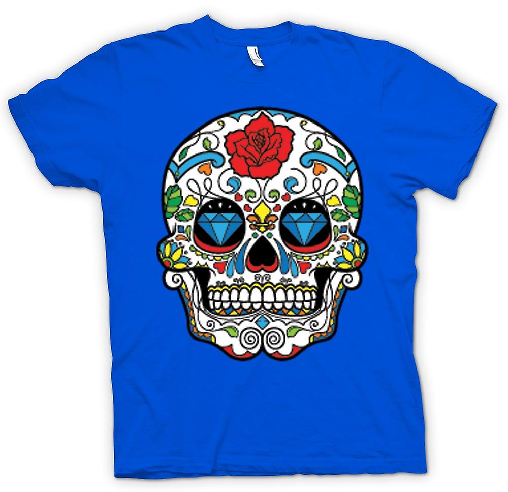 Mens T-shirt - Mexicaanse Schedel van de Suiker - Dia De Los Muertos