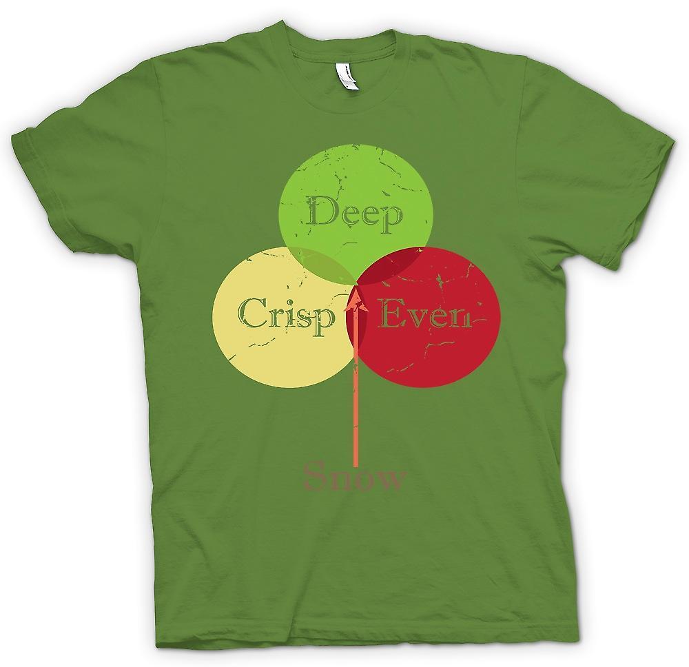 Mens T-shirt - neige même profondément croquante - Funny