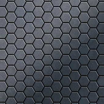 Mosaïque en métal massif Acier brut ALLOY Honey-RS