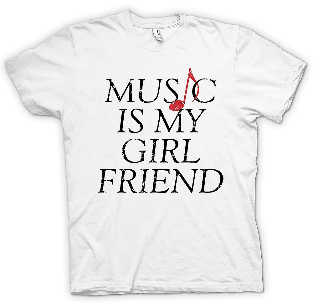Mens T-shirt - Music Is My Girlfriend