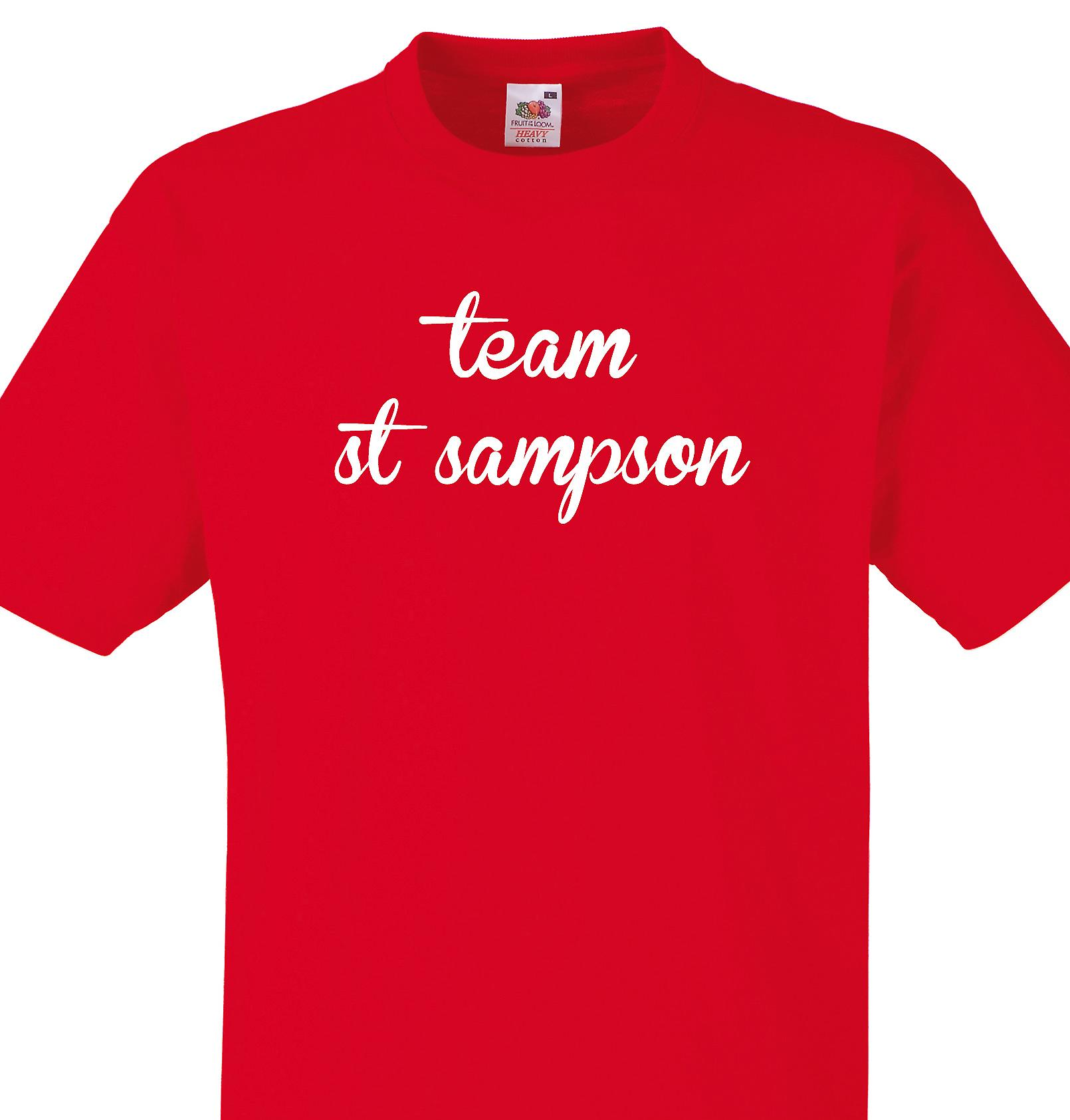 Team St sampson Red T shirt