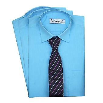 Pageboys Aqua Classic Collar Shirt with Tie